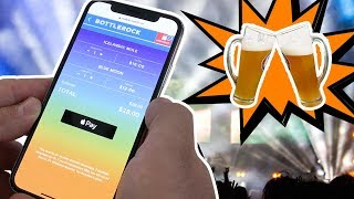 Demoing Apple Pay order ahead for drinks at concerts