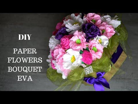 401 DIY Paper Flower Arrangement/ Paper Craft Tutorial Easy