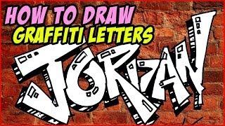 How to Draw Graffiti Letters Jordan | MAT