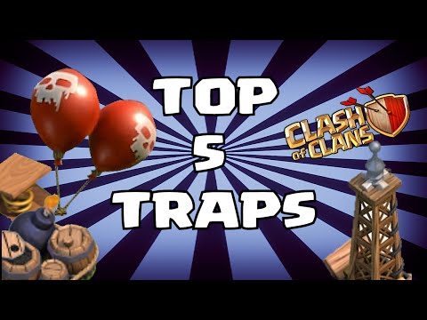 Clash Of Clans TOP 5 TRAPS (Ranking From Least To Greatest)