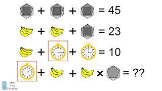 MATHS PROBLEM STUMPING TΗE INTERNET Bananas, Clock, Hexagon