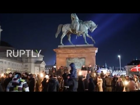 Denmark: Protesters march against 'vaccine passport' in Copenhagen