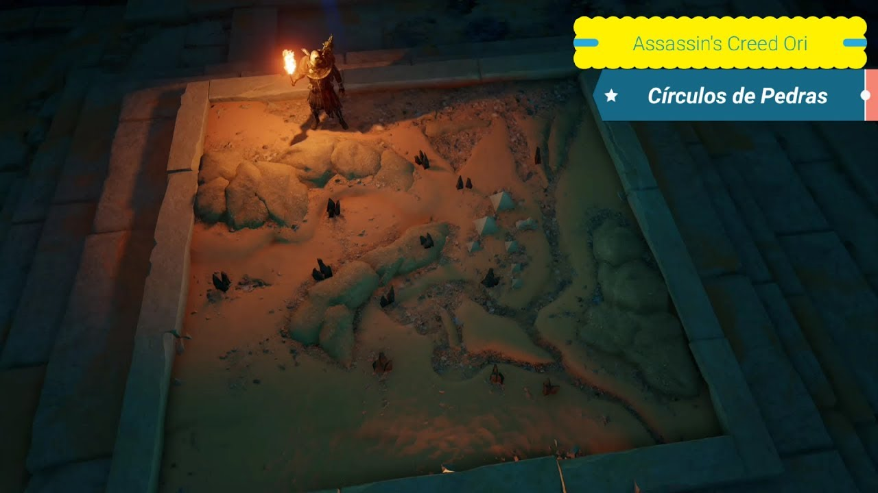 Assassin S Creed Origins O Mapa Dos 12 Circulos De Pedras Youtube