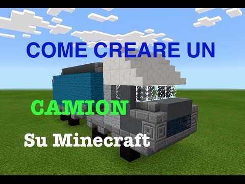how to make a truck come creare un camion su minecraft youtube. Black Bedroom Furniture Sets. Home Design Ideas
