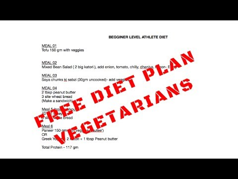 FREE MUSCLE BUILDING DIET PLAN FOR VEGETARIANS