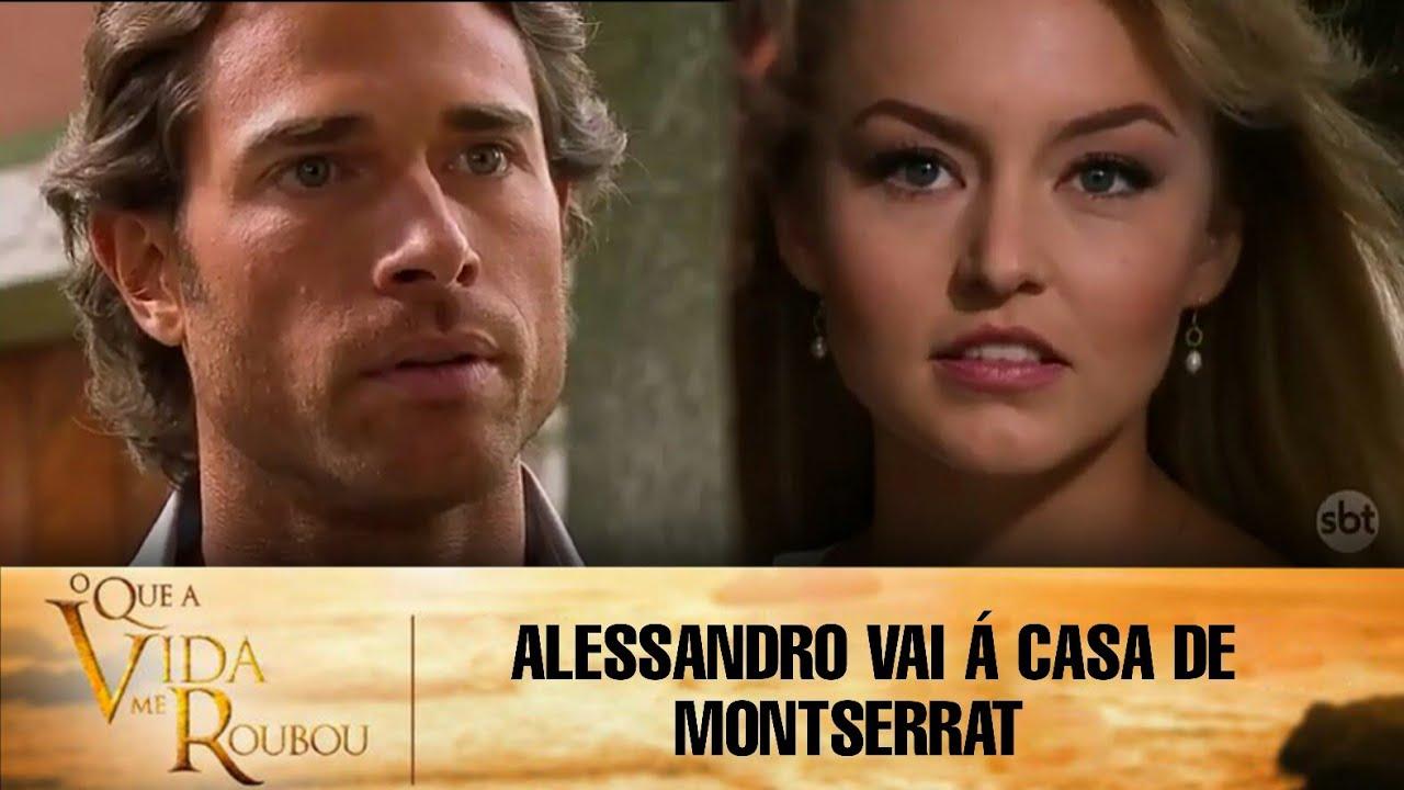 Download O Que a Vida Me Roubou- Alessandro vai á casa de Montserrat e eles se conhecem;JL não fala com Lauro