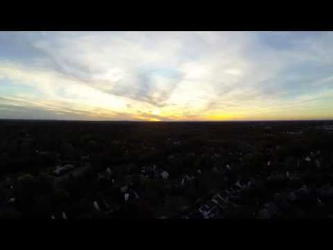 Sunset Via Remote Control Model Aircraft