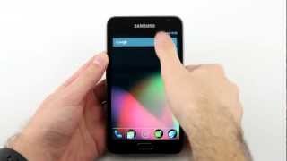 Jelly Bean and CyanogenMod 10 PREVIEW on the Samsung Galaxy Note (International GT-N7000)