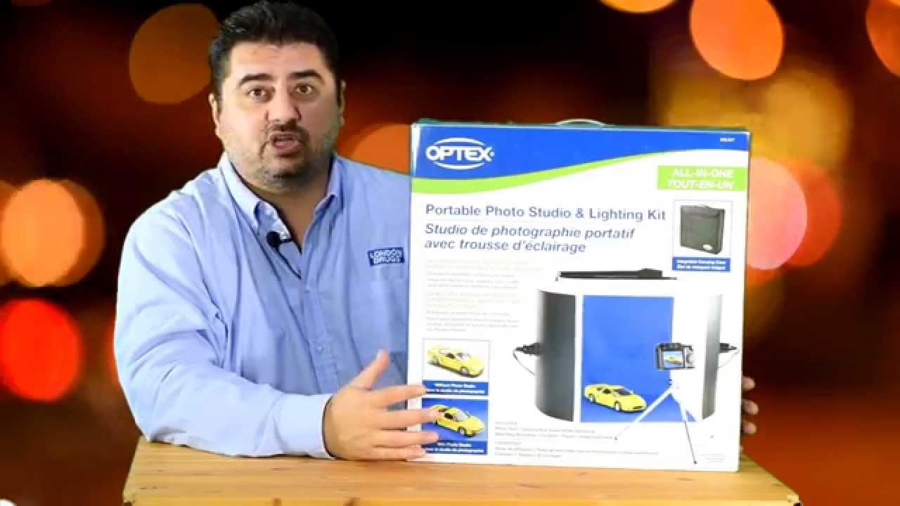 optex photo studio lighting kit youtube
