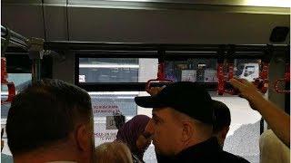 ЧП во Внуково: в автобусе с пассажирами неожиданно вылетели стекла
