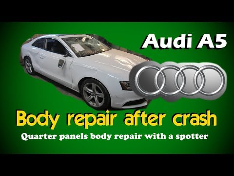 Audi A5.  Full body repair. Полный ремонт кузова.