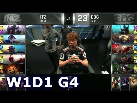 EDG vs ITZ - Week 1 Day 1 | Group C LoL S6 World Championship 2016 W1D1 | Edward Gaming vs INTZ
