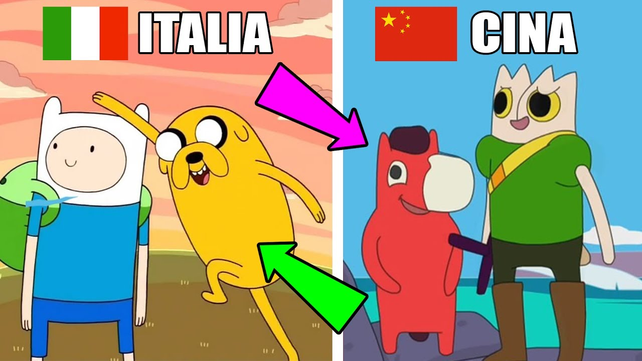 Come cambiano i cartoni animati negli altri paesi youtube