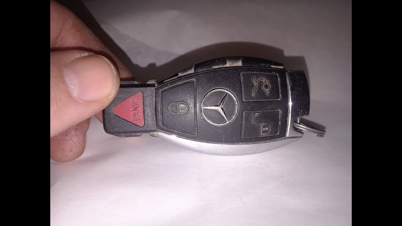 Mercedes Benz Key fob Battery Change Replacement - YouTube