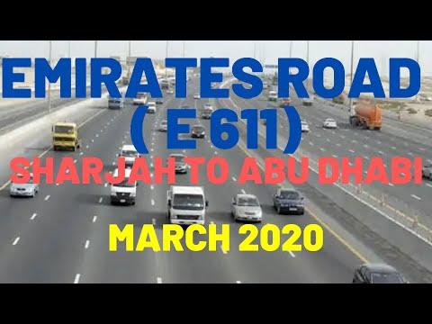 EMIRATES ROAD ( E 611 ) - SHARJAH DUBAI ABU DHABI UAE   Dubai car drive status   Dubai Status