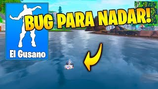 BUG with THIS EMOTE TO BE ABLE TO SWIM!! FORTNITE 😱🏊