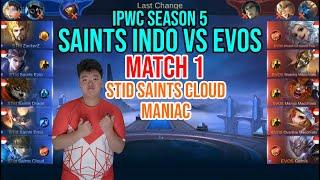 GAME 1 SAINTS INDO VS EVOS ESPORT - IPWC