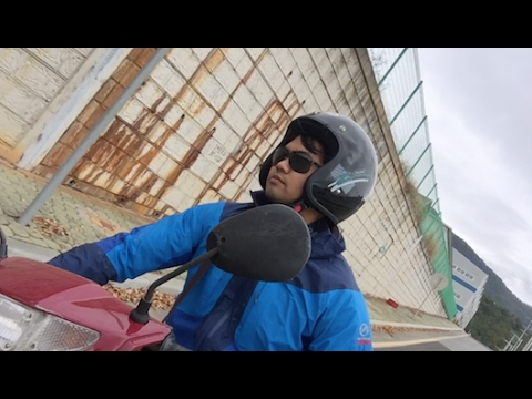 Traveling korea on motorcycle