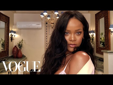 Rihanna's Epic 10-Minute Guide To Going Out Makeup | Beauty Secrets | Vogue