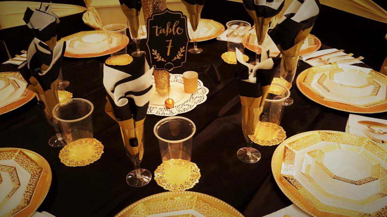 Download BLACK AND GOLD WEDDING THEME 2016