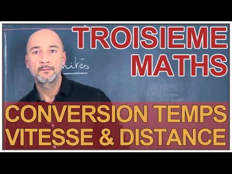 conversion vitesse distance et temps maths 3e les bons profs youtube. Black Bedroom Furniture Sets. Home Design Ideas