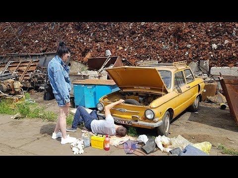 ОН ЖИВ, мы его завели,машина ж огонь))) ЗАЗ-968 спасен от сдачи на металолом (часть-1)