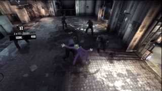 BATMAN: ARKHAM ASYLUM [HD] - JOKER GAMEPLAY (Combat: Maximum Punishment)