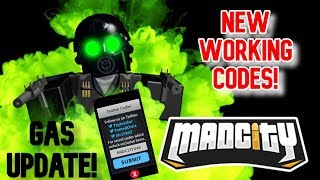 NEW WORKING CODES (GAS UPDATE) Roblox Mad City