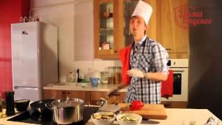Лосось, запеченный со сливочным сыром и жасминовый рис с овощами