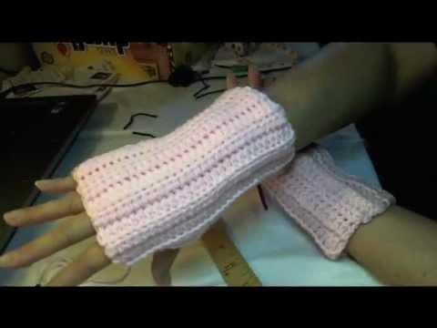 Easiest Fastest Crochet Fingerless Gloves Wristers Youtube