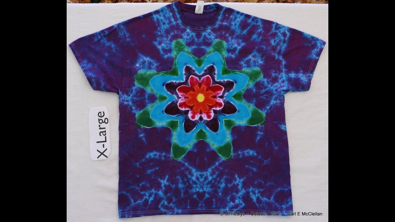 b3500ab5ce640 How to fold the RonStar Tie-Dye Mandala pt 1