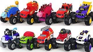 Blaze and The Monster Machines Dinosaur, Ninja, Pirate, Fire truck with PJ Masks! Go! #DuDuPopTOY