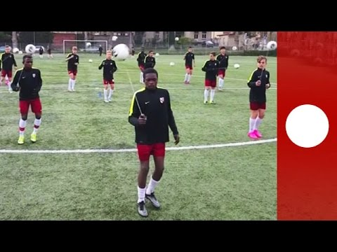 Metz football club share unusual training technique with the world