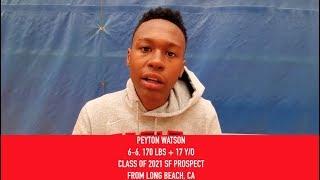 Peyton Watson: 2019 USA Basketball Junior Minicamp Interview