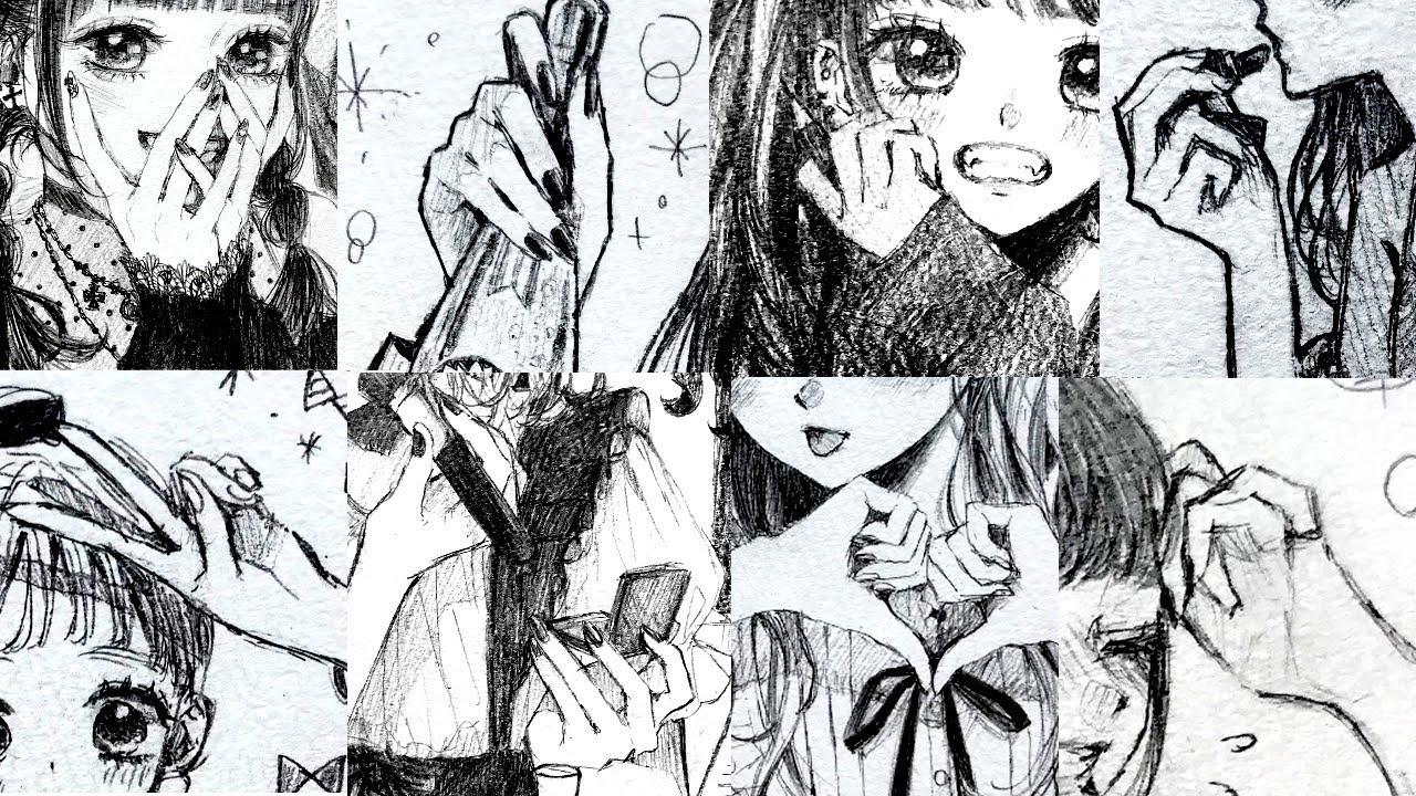 手の描き方講座🙌How to draw hands【手の練習用フリー素材つき】