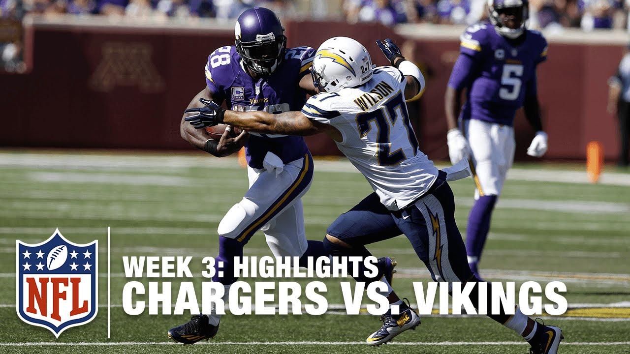 chargers vs vikings week 3 highlights nfl youtube