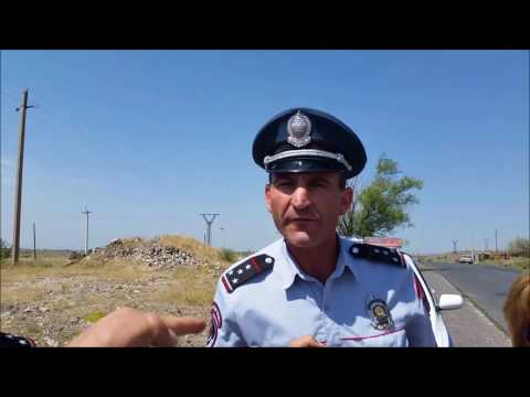 Yerevan-Gyumri Highway Police Trap With Baseless Signs