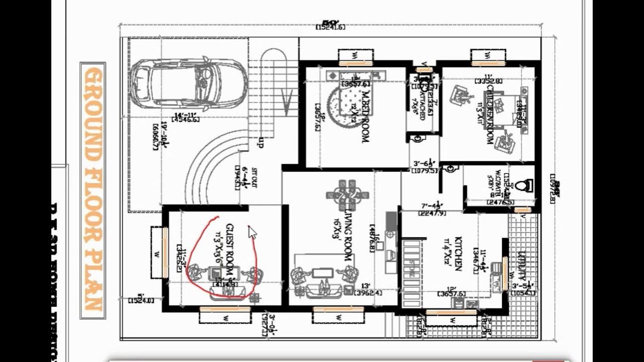 36x50 best house plan - YouTube