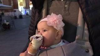 Peyton tries Gelato for the First Time