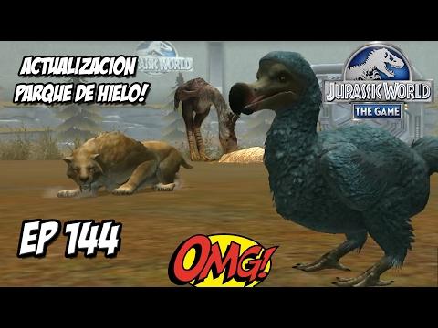 ACTUALIZACIÓN PARQUE CENOZOICO, PARQUE DE HIELO! DIENTE SABLE! // #JurassicWorld: El Juego #144 HD