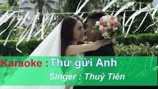 karaoke | Thư Gửi Anh - Thuỷ Tiên | Beat Chuẩn