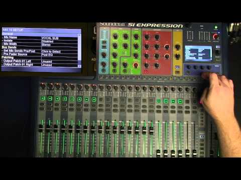 Using the Soundcraft Expression for musical theatre