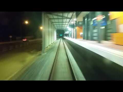 Transperth B series express at night, from Mandurah to Perth Underground