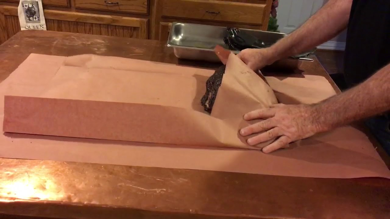 How To Wrap Brisket Barbecue With Pink Butcher Paper
