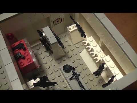 База спецназа - лего самоделка