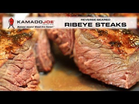 Kamado Joe Reverse-Seared Ribeyes