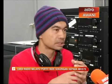 Cara Radio Melayu Perth beri sokongan kepada MH370