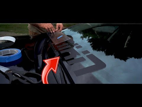 HOW TO INSTALL A VINYL WINDSHIELD BANNER!