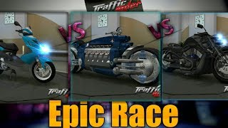 Traffic rider  Super Bikes Vs Scooter Epic Race  2019 #Android and IOS Ultimate Bike Gameplay