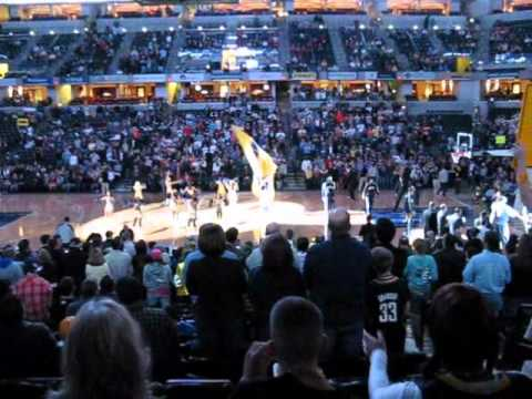 Indiana Pacers Player Introductions (11/20/2010)
